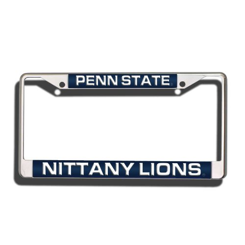 (Rico Industries NCAA Penn State Nittany Lions Laser Cut Inlaid Standard Chrome License Plate Frame)