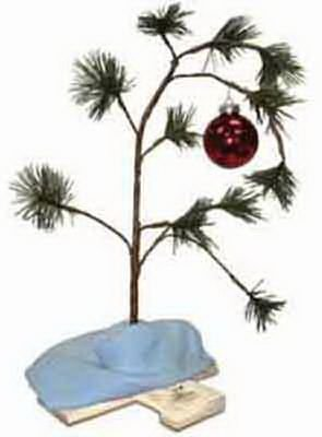 (Product Works 24-Inch Charlie Brown Musical Christmas Tree with Linus's Blanket Holiday Décor, Classic)