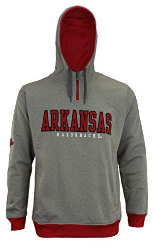 Outerstuff NCAA Men's Fashion Basic 1/4 Zip Hooded Pullover, Arkansas Razorbacks XX-Large