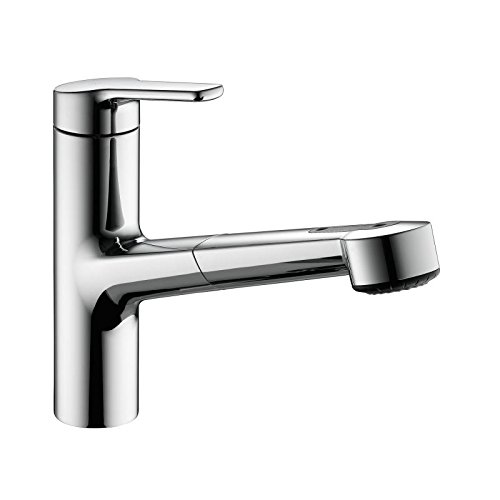 America Lever Kitchen Single Faucet (KCW 10.361.033.000 Piana Single Lever Kitchen Mixer with Pullout Spray, Chrome)
