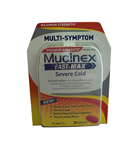 UPC 363824192307, (Pack of 2) Mucinex Fast Max Severe Cold, 30 Caplets