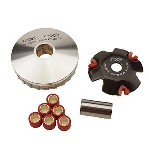 - Glixal ATKS-041 High Performance Racing Variator Kit with 6.5 gram Roller Weights for Chinese Scooter Moped ATV 4-Stroke GY6 50cc 80cc 100cc 139QMB 139QMA Engine Front Clutch