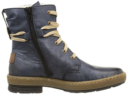 Rieker - botines de caño bajo de material sintético mujer azul - Blau (ozean/mogano / 14)