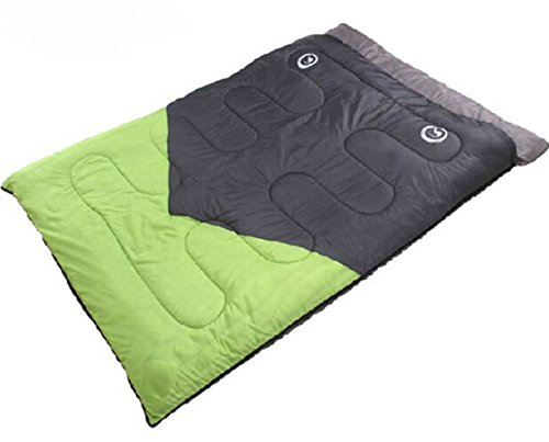 Double Sleeping Bag Outdoor Bag Sports Camping Hiking With Carry Bag Lightweight Easy to Carry