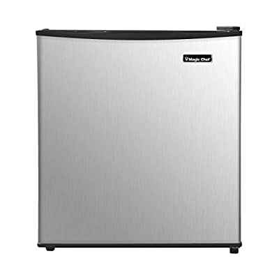 Magic Chef MCAR170SE2 Energy Star 1.7 Cu. Ft. Mini All-Refrigerator with Stainless Door Compact, Silver
