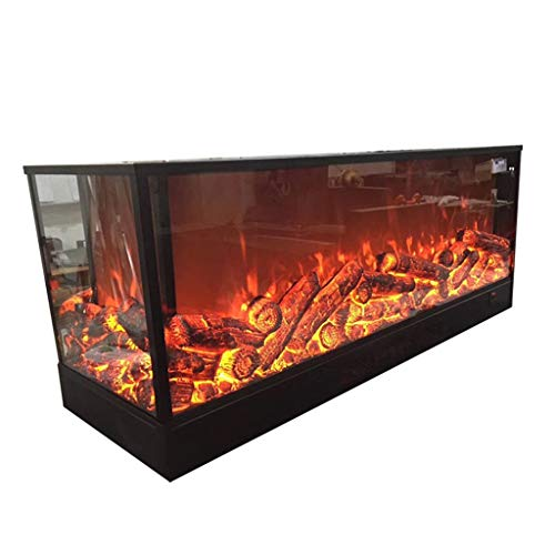 Cheap Electric Fireplace - Large Four Face Furnace Fireplace/Decorative LED Electronic Simulation Flame Fireplace 74.0 cm 20.0 cm 40.0 cm Black Friday & Cyber Monday 2019