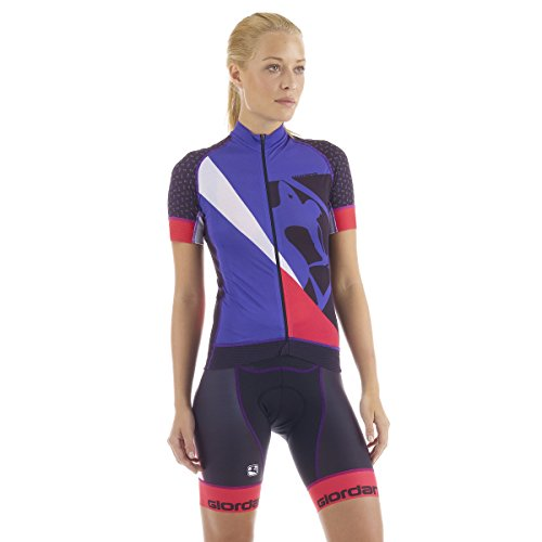 Giordana Trade FormaRed Carbon Jersey - Women's Totale Purple/Pink/Black, S
