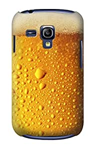 E0328 Beer Glass Funda Carcasa Case para Samsung Galaxy S3 mini