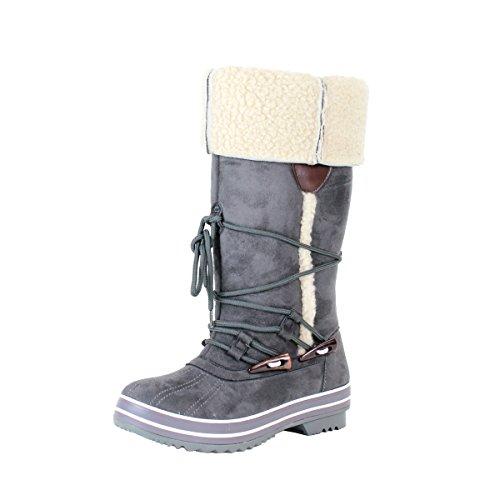 Reneeze LULU-01 Womens Winter Combat Boots w/ Faux Fur Overl
