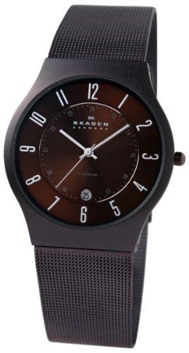 Skagen Slimline 233XLTMD - Reloj de caballero de cuarzo, correa de acero inoxidable color gris: SKAGEN: Amazon.es: Relojes