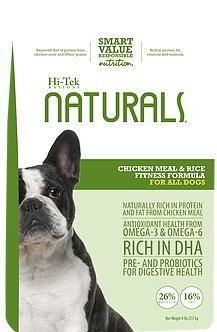 Hi-Tek Naturals Chicken Meal and Rice Formula Dry Dog Food for Active Dogs, 30-Pound