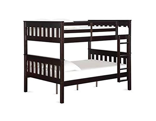 Dorel Living Moon Full Over Full Bunk Bed with USB Port, Espresso (Full Over Full Bunk Beds For Adults)