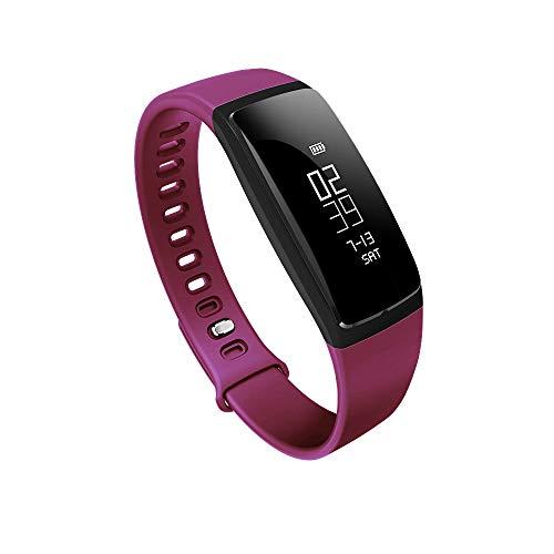 Sports Digital Chronograph Watch, Smart Bracelet Pedometer Wristband Bluetooth Watch Activity Fitness Tracker (Purple) ()