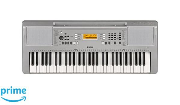 Yamaha YPT-360 - Teclado portátil, color plata: Amazon.es: Instrumentos musicales
