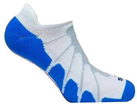 Sox Italy No Show Ghost Socks - Silver Drystat Plantar Support Performance Socks - White/Royal, Small - SS6011