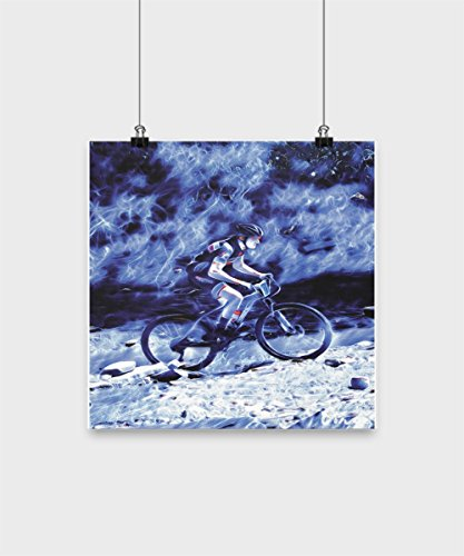 Mountain Bike Poster - Nothing Can Stop A Mtb Cyclist - Motivational Posters for Athletes