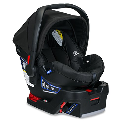 Britax B-Safe 35 Infant Car Seat - 4 to 35 Pounds - Rear Facing - 1 Layer Impact Protection, Raven (Baby Jogger Car Seat Adapter Graco Click Connect)