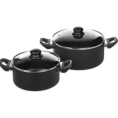 AmazonBasics 15-Piece Non-Stick Cookware Set 12