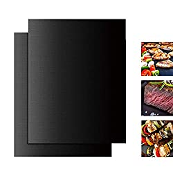 Other Bbq Tools Bbq Grill Mat Set Of 2 Heavy Duty 100 Non Stick Mats Reusable And Easy To Clean Barbecue Grilling Stove Portable Grill Bbq Oven Kebab Grille Gas Camp Smokeless Stove Griller