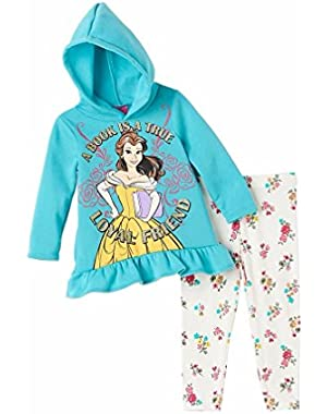 Princess Girls 2-Piece Loyal Friend Hoodie & Leggings Belle-- Beauty & Beast