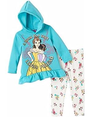 Princess Girls 2-Piece Loyal Friend Hoodie & Leggings Belle-- Beauty & Beast