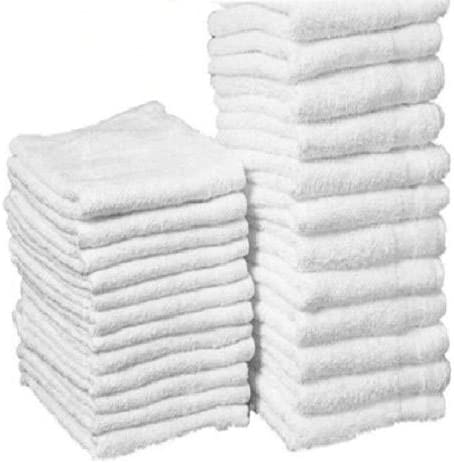 10 lbs white 100/% cotton 12/'/'x12/'/' terry shop bar wiping cloths cleaning towels