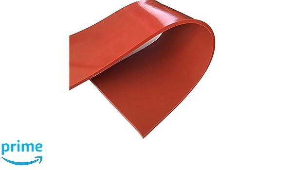 sin respaldo Caucho de silicona hoja de alta temperatura Color Rojo 60/A durometer