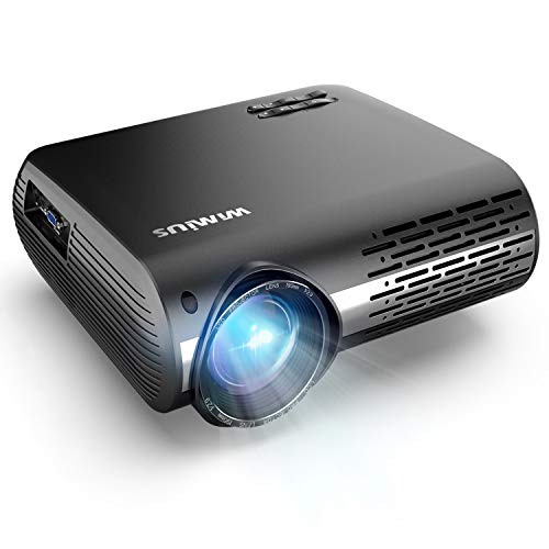 Projector, WiMiUS P20 Native 1080P LED Projector 5500 Lumen Movie Projector Support 4K Video Zoom Function ±50°Digital Keystone Correction 70,000 Hrs for Home Entertainment & PPT Business Presentation (Led Hd Projector 1080p)