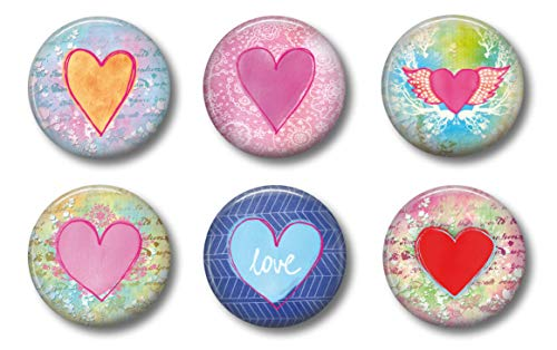Heart Magnet - Heart Magnets - Cute Locker Magnets For Teen Girls - Whiteboard Office or Fridge - Funny Magnet Gift Set (Hearts)