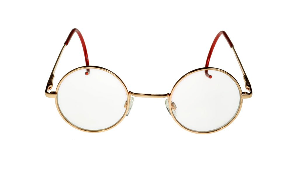 dbc3685c73a i sunglasses.com Round John Lennon Glasses Curly Cable Temples Gold Clear M   Amazon.co.uk  Health   Personal Care
