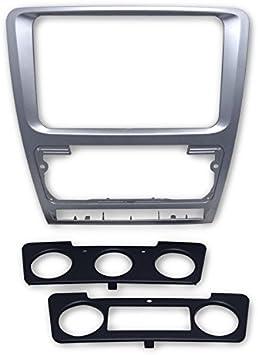 FEELDO - Kit de montaje para radio estéreo de coche (2 DIN), color plateado: Amazon.es: Coche y moto