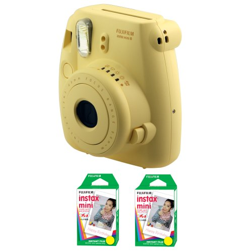 Fujifilm FU64-MINI8YK40 INSTAX MINI 8 Camera and Film Kit with 40 Exposures (Yellow) by Fujifilm