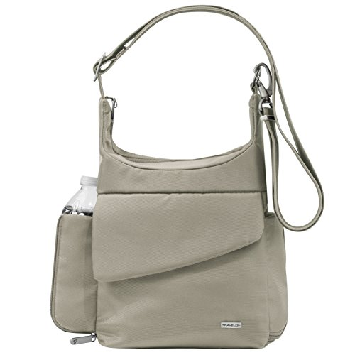Travelon Anti-Theft Classic Messenger Bag, Stone, One Size