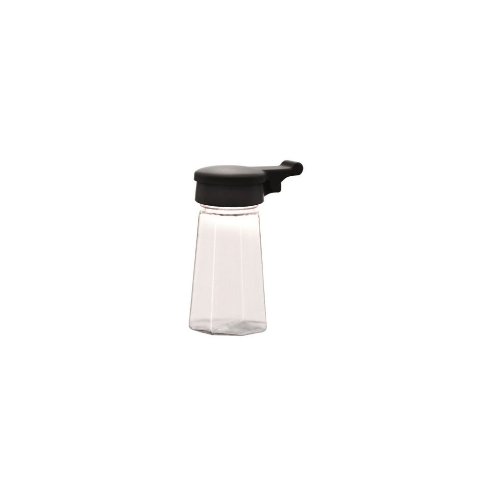 Traex 322-06 2 Ounce Salt/Pepper Shaker w/Black Flip Top Lid