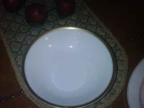 Vintage Japan Linden Fine China Greek Key Round Veggie Bowl Mk-3006 -