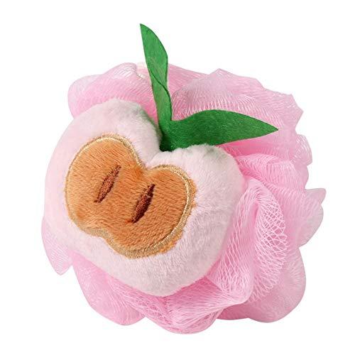 H&JOY Fruit Ball Bath Shower Sponge Lace Mesh Pouf Bath Brush Bathroom Towel Soft Bath Flower Body Shower Bathroom Cleaner (A)
