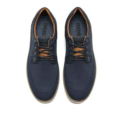 Cuero 84260 C44836 knit Hombre Zapatillas Azul Suede Para Marino Wax Mtng PRnFvzz