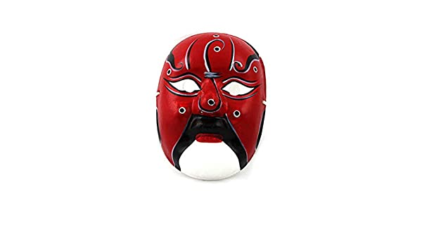 NUOKAI Máscara de Pulpa de Yeso Pintada a Mano máscara de la quintaesencia de Arte Chino Cara artesanía máscara de la ópera de Pekín: Amazon.es: Juguetes y ...