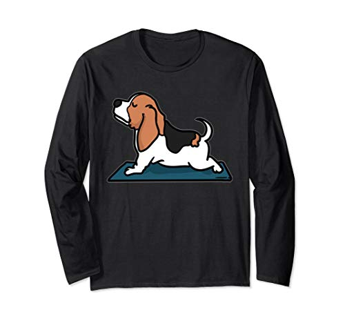 Basset Hound Yoga Shirt Meditation Chakra -