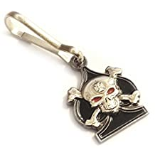 Ace of Spades Death Card Skull & Crossbones Iron Cross Sniper Backpack Jacket ZIPPER PULL CLIP