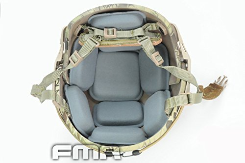 FMA CP Style Helmet Protective Pad Tactical Paintball War-Game High Glutinosity Sticker Helmet Cushion Pad, Grey