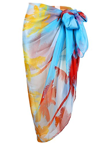 Ayliss Womens Swimwear Chiffon Printed Cover up Beach Sarong Pareo Bikini Swimsuit Wrap,#44