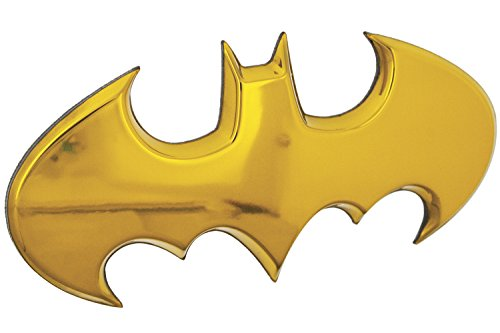 Fan Emblems Batman Car Badge, Yellow Chrome Batwing