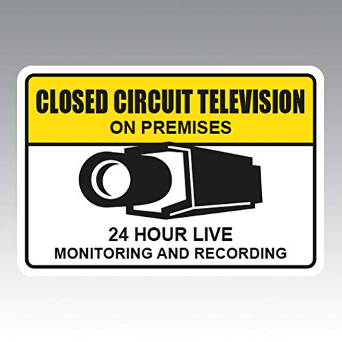 (RDW Warning CCTV Closed Circuit Television - Color Sticker - Decal - Die Cut - Size: 6.00