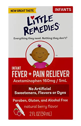 Little Remedies Infant Fever & Pain Reliever with Acetaminophen | Berry|  2 FL OZ | 2 Pack