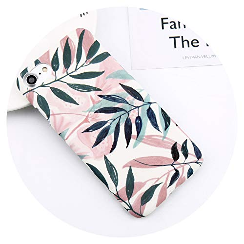 Flower Leaf Print Phone Case for iPhone 7 Plus XR XS Max Pineapple Marble Hard PC Cover Cases for iPhone X 8 6 Plus 5 SE,SJ9035,for iPhone 7 Plus