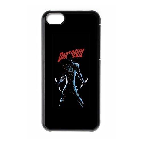 G6T73 Daredevil B6C8JF cas d'coque iPhone de téléphone cellulaire 5c couvercle coque noire KT2FJO7VL