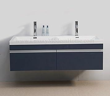 VS Alexis - 139,7 cm inch Meuble lavabo moderne flottant support de ...