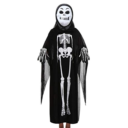 - DEATU Halloween Cosplay Costume Hot Sale! Toddler Boys Girls Kids Halloween Costume Cloak+Mask+Gloves Outfits Set(Black2,C)