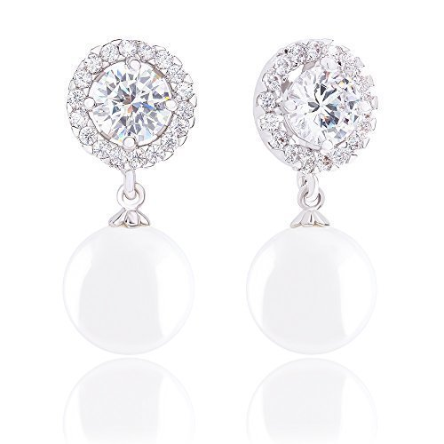 18k-Gold-Plated-Round-Shell-Pearl-and-Solitaire-Cubic-Zirconia-Halo-Earrings-105-11mm-150-carats